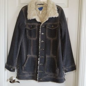 Free People stretch denim jacket, size large